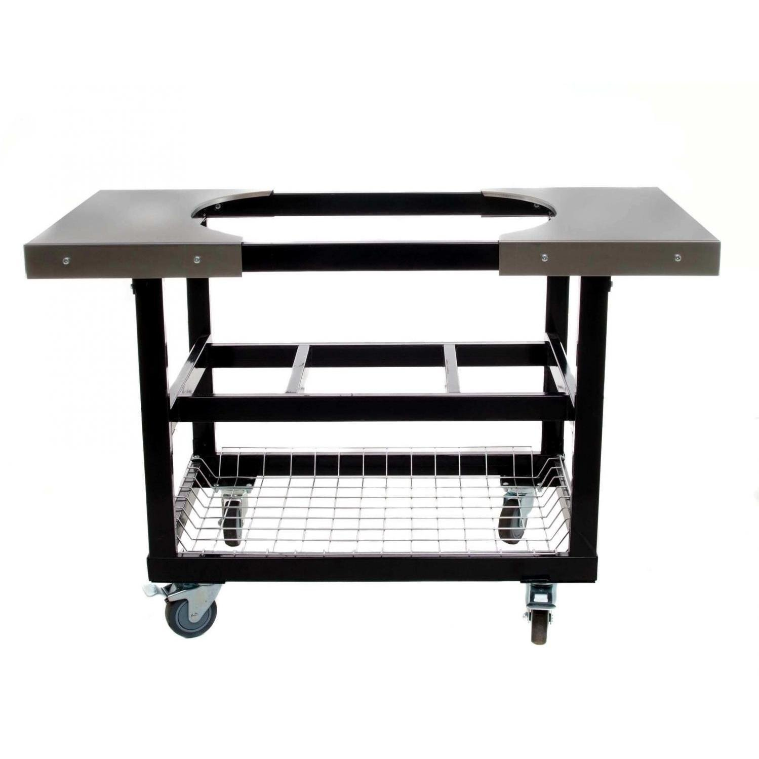 Get Quotations · Primo 310 Cart With Basket And Side Tables With Casters For  Primo Oval XL Grill