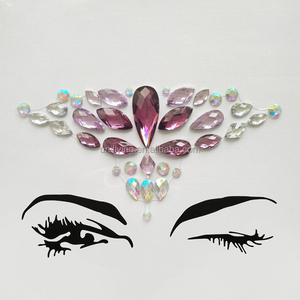 2018 Tribal Style Face Fashionable Temporary Rhinestone Gem Body Face Jewel Stickers