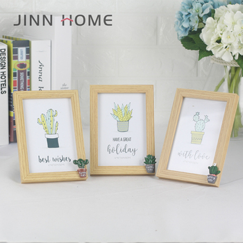 2018 Wholesale New Design Green Cactus 4x6 Mdf Cheap Wood Picture ...