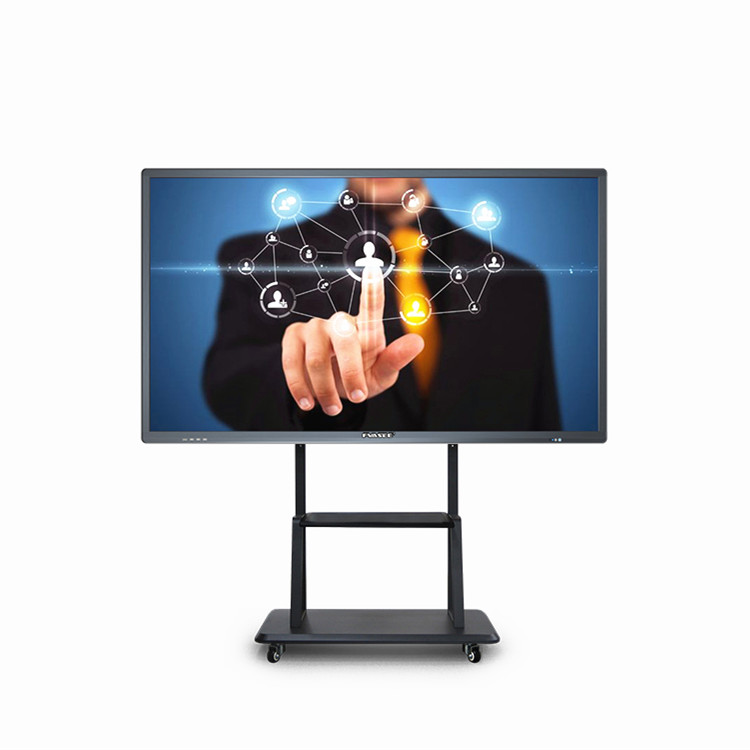 "Draagbare 75 ""Lcd Standing Floor Smart Display Verticale ultradunne Interactieve TV Touch Screen Whiteboard Draadloze Alle In een PC"