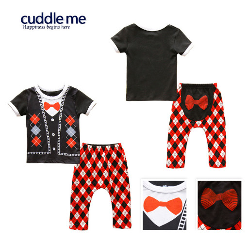 Toddler Girls and Boys Infant Suit Cotton New Korean Version Fashionable Baby pp Pants Suit