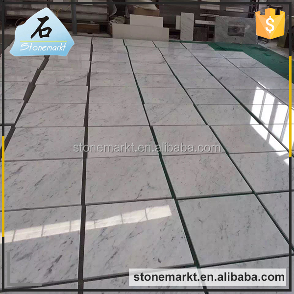 Low price italian bathroom carrara white stone polished flooring marble tile