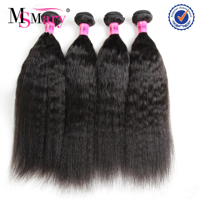 No tangle no shed can be dyed yaki straight unprocessed virgin soft cheap price per kg brazilian hair