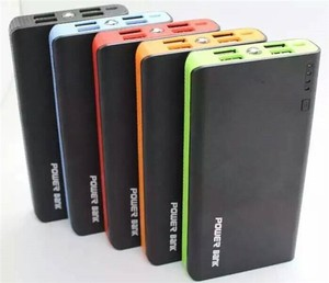 Factory portable charger mobile charger power bank 4 USB port 20800mah universal battery pack