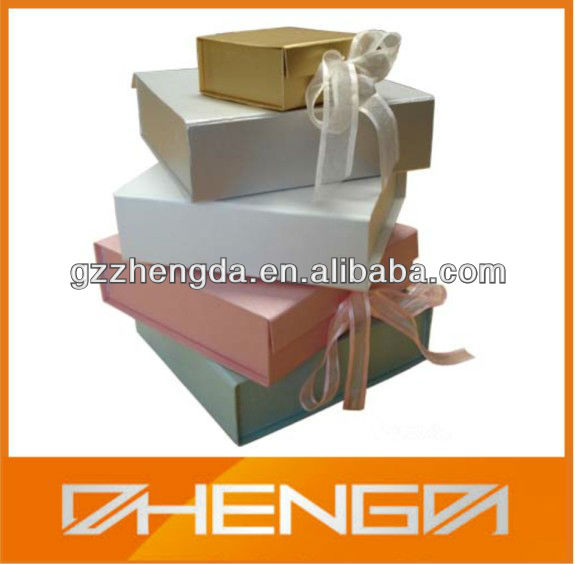 High quality customized made-in-china New Design Paper box with Ribbon for Gift(ZDP-P161)