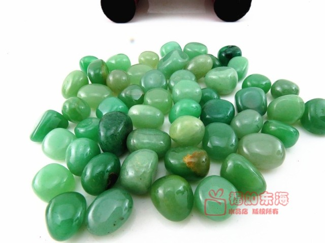 Natural aventurine jade nunatak gravel green aventurine jade stone granule purification 30pcs/lot
