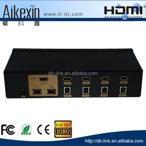high resolution 2560x1600 570MHZ 4 port usb/ps2 hdmi kvm switch with factory price