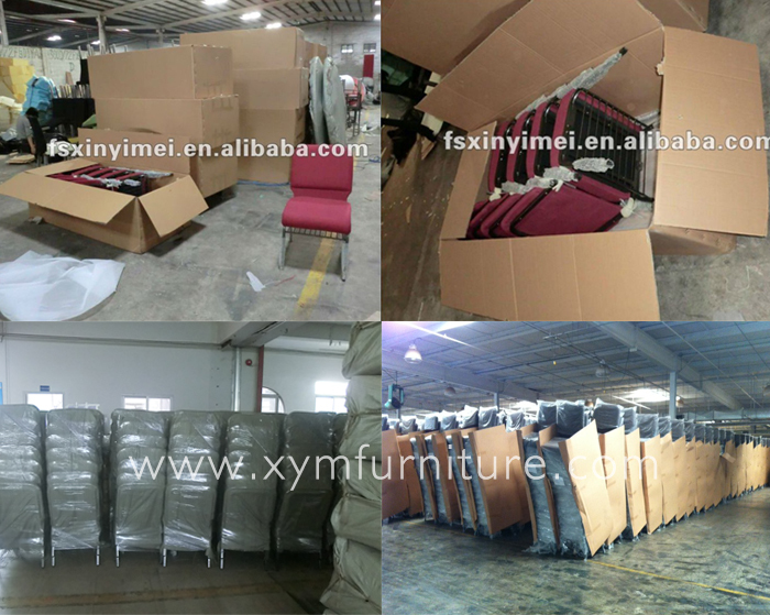 Wholesale high quality metal frame church chair with arms