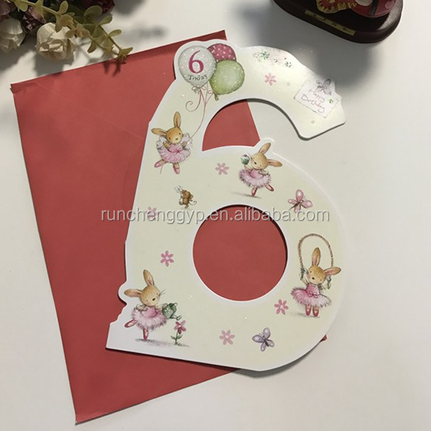 Happy 6th Birthday Greeting Card For Children