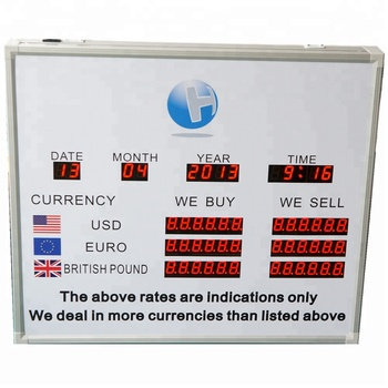 Foreign Currency Exchange Led Indoor Display \ Led Digital Currency Rate  Board - Buy Currency Exchange Rate Display,Big Screen Led Exchange Rate