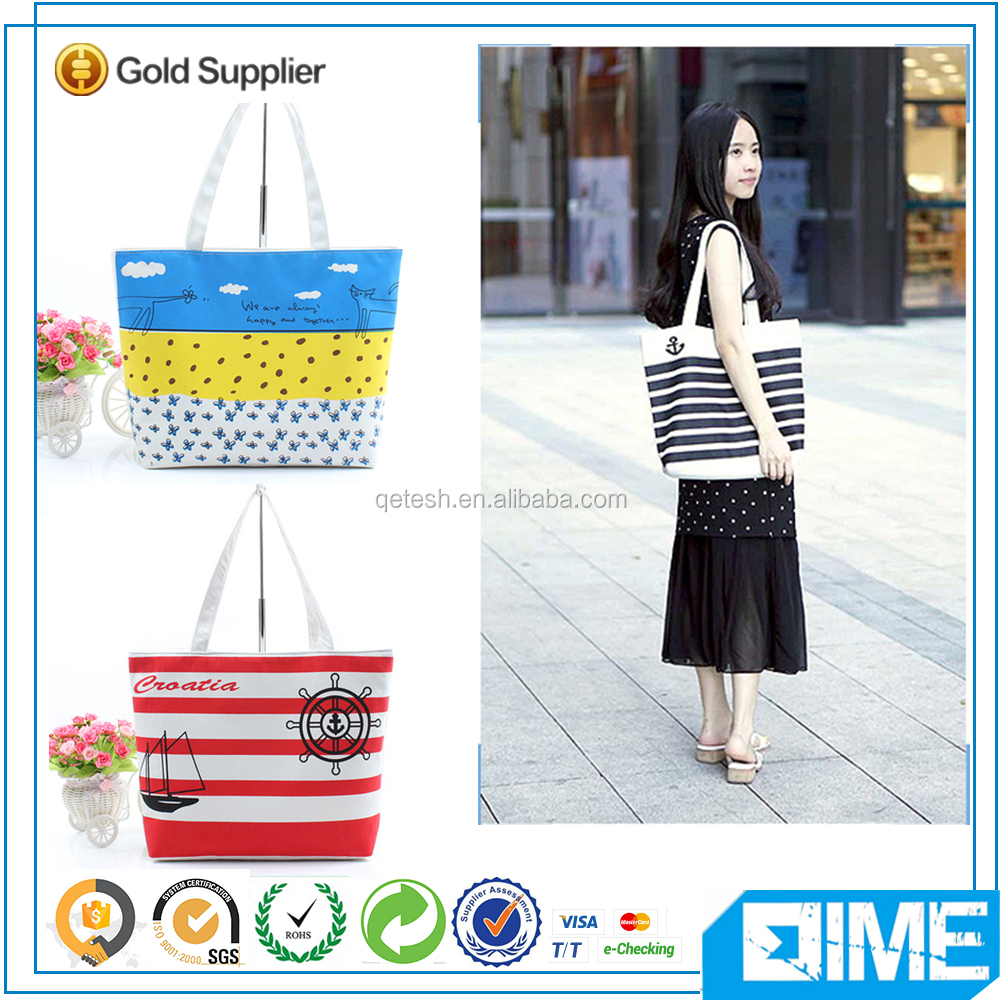 Alibaba hot-sale fresh fashion city printed cotton canvas bag