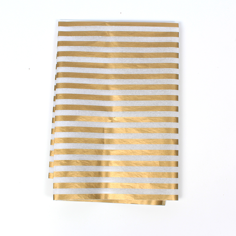 17g tissure paper gold stamping wrapping paper in stock