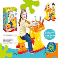 Top selling educational toys 2 in 1 child's toy creativity desk & easel for children