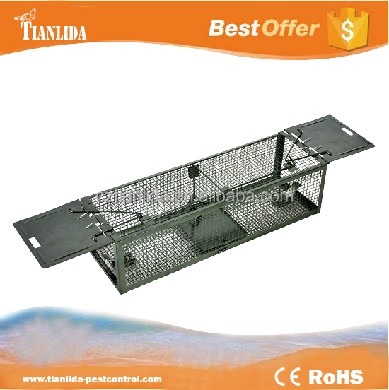 Best humane wire mesh rat trap with two spring doors , Factory outlet TLD2012