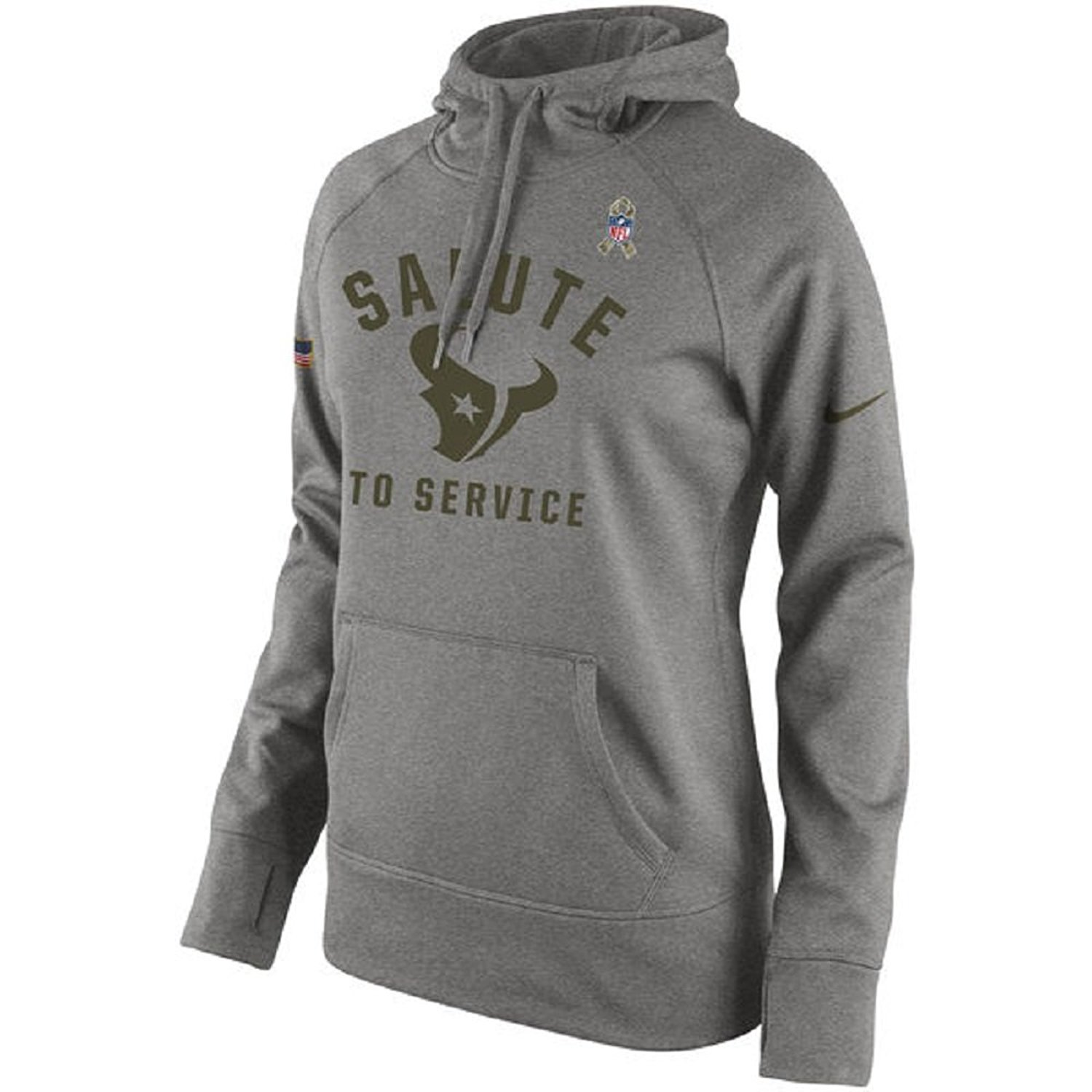 b8cf49480 Get Quotations · Nike Women s Houston Texans Salute to Service Fleece  Pullover Hoodie 826005-063 (Medium)