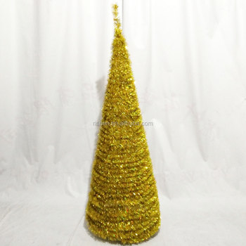 5ft artificial tinsel christmas tree overstock gold pop up christmas trees
