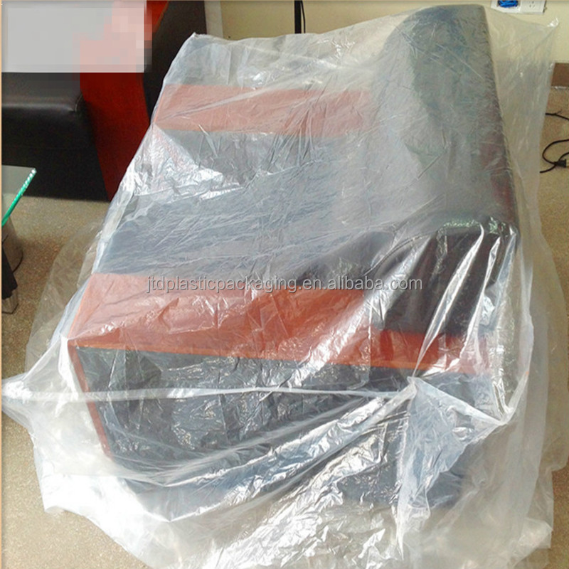 Qingdao JTD Plastic Manufacturer Supplies Clear Durable Extra Large Size Furniture Dust Cover Protection Bags