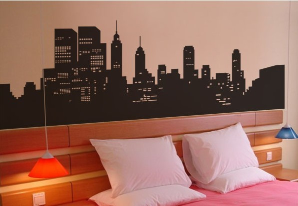 New York City Vinyl Wall Decal Beautiful Night View Of