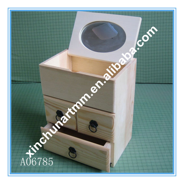Polished Wooden Chest Boxes With OEM Service