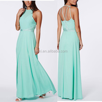 Polyester open back evening prom 2016 summer maxi dress,fancy maxi dress