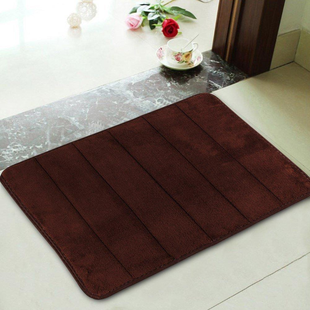 Get Quotations · Bath Rugs Doormat Kitchen Rugs Carpet Absorbent Memory  Foam Bathroom Shower Floor Bath Mats Pad Non