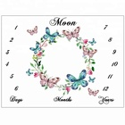 Manufacturer baby fleece milestone blankets private logo package