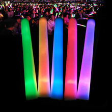 2019 Nieuwe Goedkope Party <span class=keywords><strong>Concert</strong></span> Carnaval light up led schuim stok, Remote Controlled rf Led Glow Sticks DMX