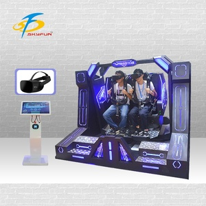 Roller Coaster Simulator for Game Center 9D Pendulum Films 360 Degrees VR Machine