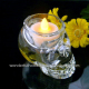 high quality crystal skull shaped glass candle jar