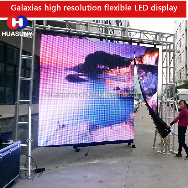 Huasun Galaxias 16 mm led advertising <strong>screen</strong> for commercial