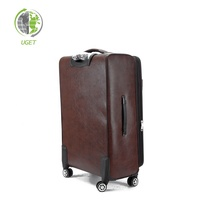 Free Sample Trolley Bag Set Travel Trunk Identifier Real Leather Luggage