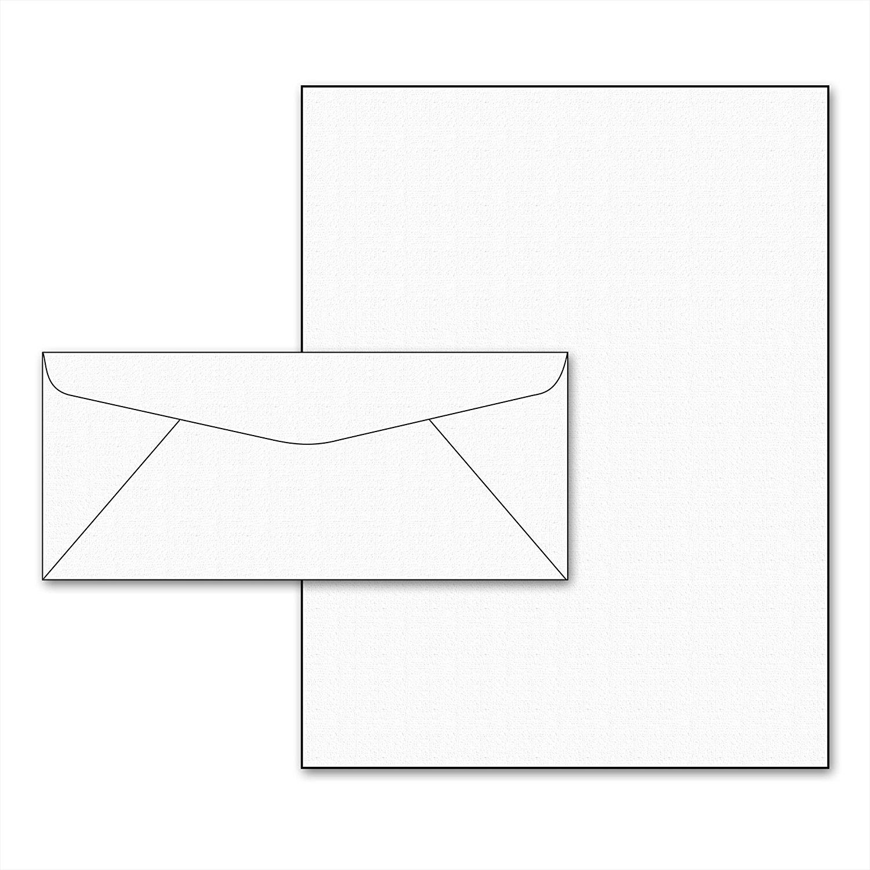 Buy 28lb White Linen Resume Paper Size 8.5 x 11 & #10 Envelopes - 50 ...
