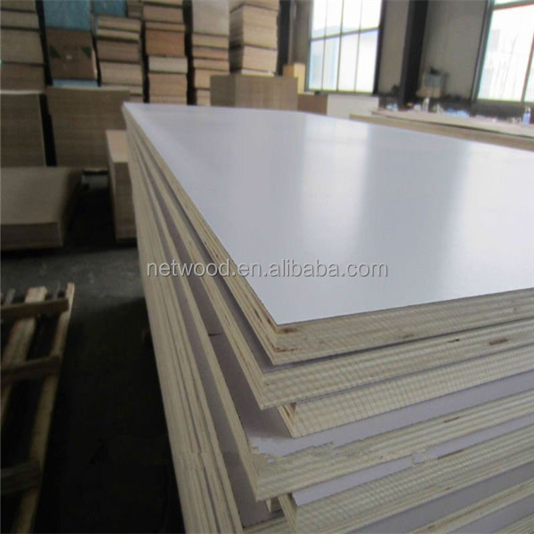Cheap white melamine laminated plywood/laminated marine plywood