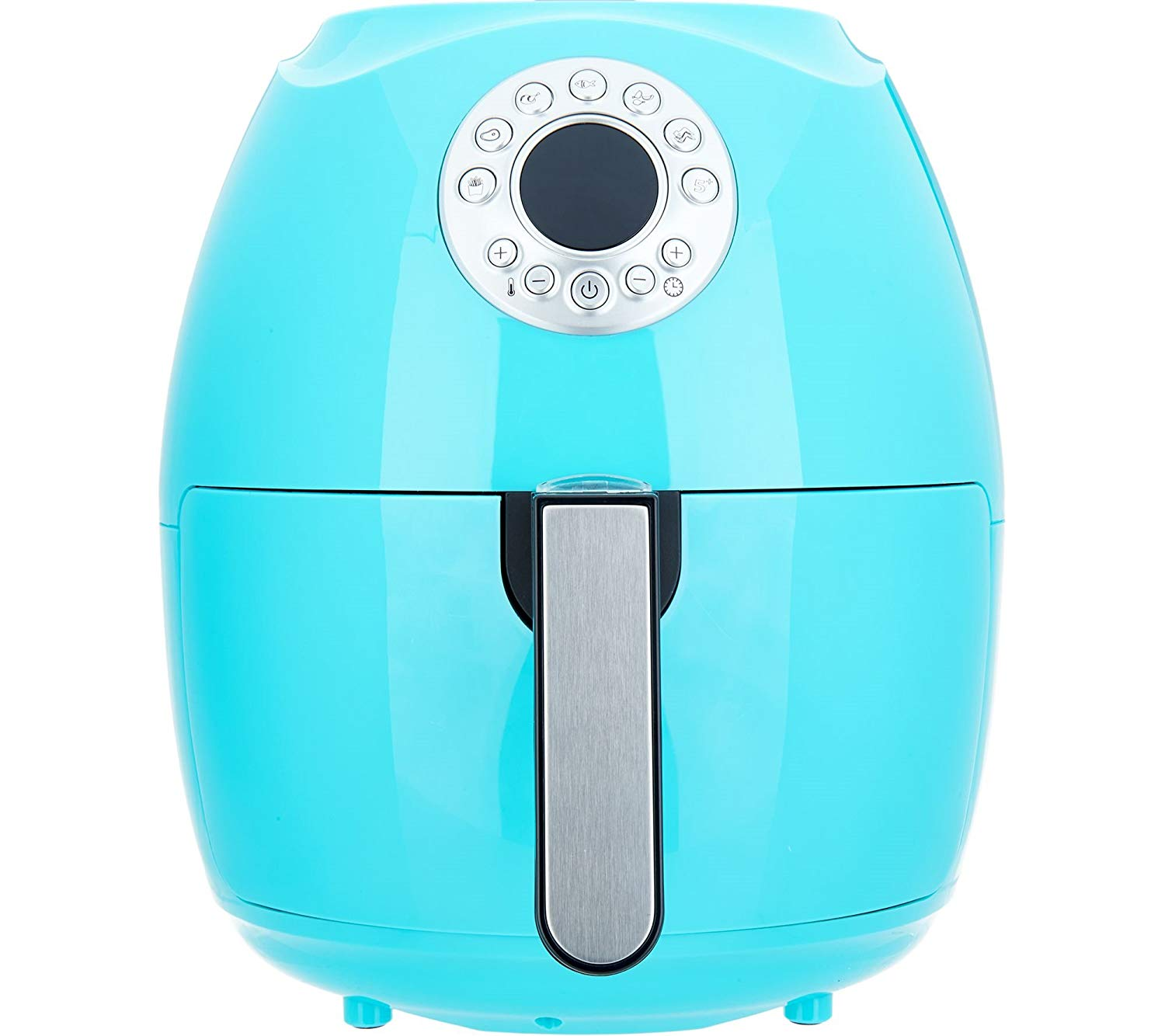 "Cook's Essentials 600187470285 3.4-Qt Digital Air Fryer w/Presets & Pans (Turquoise), 12-1/2""H x 10-1/2""Diam, weighs 9 lbs"