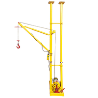 Portable Interior Lifting Build Materials Construction Crane