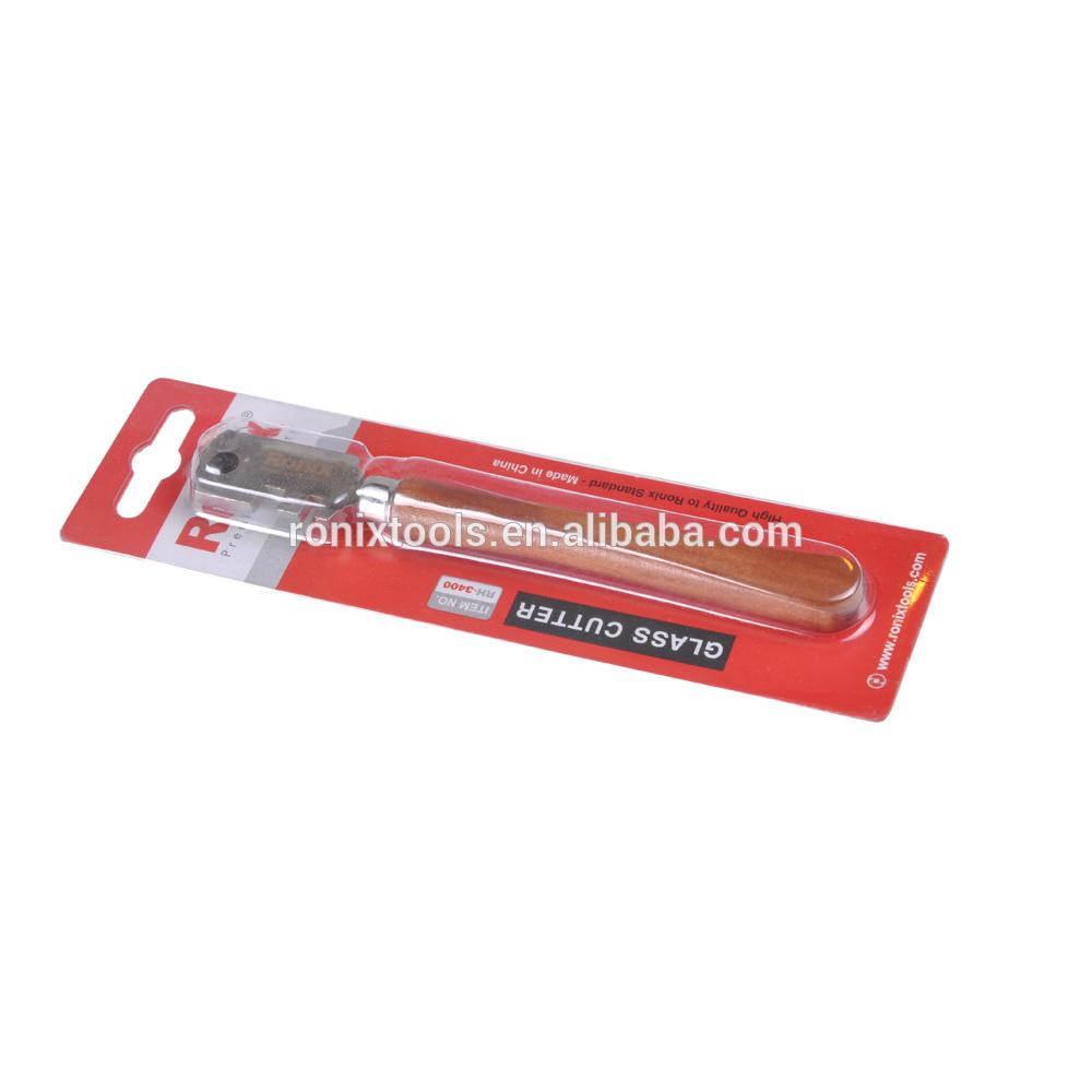 Ronix безопасный шестиколесный стеклорез с деревянной ручкой модель RH-3400