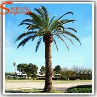 Life size artificial palm tree leaves decorative metal palm trees artificial palm tree