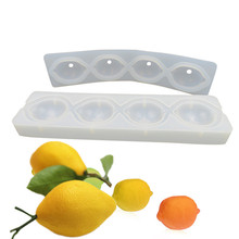 4Hole Vivid Lemon Fruit Cake Mold 3D Mousse Cake Moulds For Ice Creams Chocolates Pan Bakeware