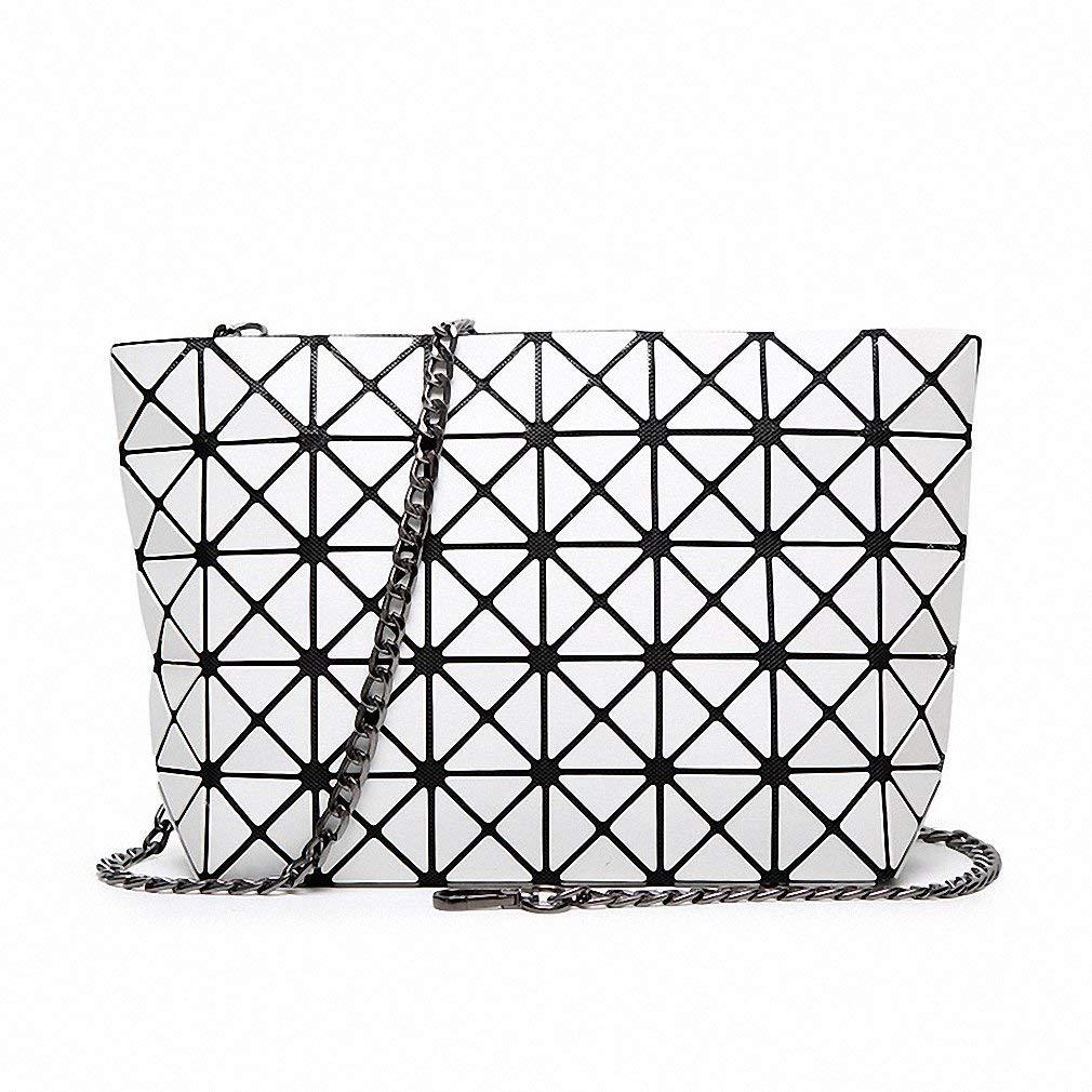 Get Quotations · Diamond Lattice Fold Sequin Over Bags Small Women Clutch  Handbag Chain Shoulder Messenger Bag Wristlet bao b2a6238d2f09c