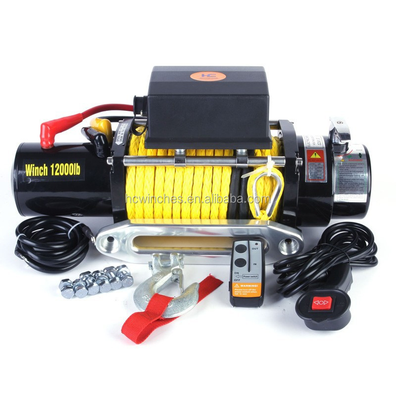 Off road recovery winches 12000lb with wireless remote 12 v or 24 volt