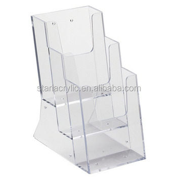 400 Tier Acrylic 400400w A40 Brochure Literature Magazine Holder For Wall Classy Clear Plastic Magazine Holders