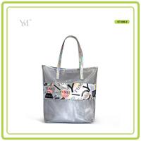 fashion bag ladies handbag 2017 women Mesh and PVC designer hand beach customized tote bag