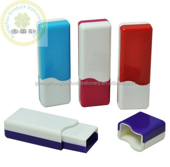 GOODLUCK Keyclain Pocket Plastic Stamp Materials Handeheld Rubber