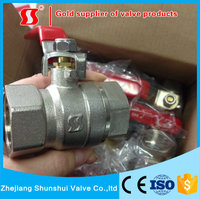 Red Lever Handle Forged NPT Brass Ball Valve