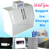 commercial bagged ice storage bin for 8 pounds ice bag freezing