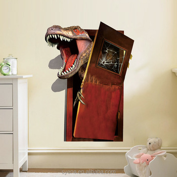 syene 3d effect dinosaurs jurassic park home decor diy cartoon