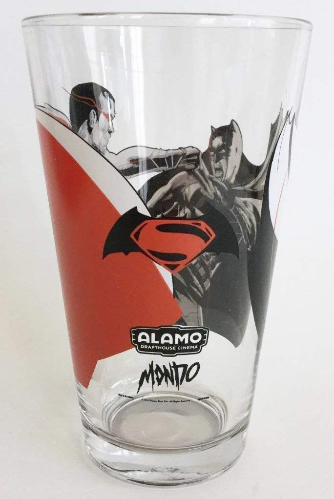 "Batman V Superman ""Dawn of Justice"" Pint Glass Tumbler - Officially Licensed (5-3/4"" Tall)"