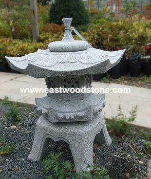 Japanese Granite Lantern Garden Stone Lamp Rokkaku Yukimi S Buy Japanese Lantern For Sale