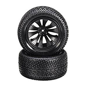 New HBX 1/12 12056 Wheels Complete Tires And Rims For Truck 12812 By KTOY