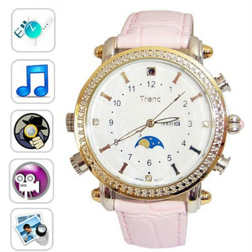 Lady Watch Camera Mp3 Player wrist watch hidden camera with PC function 4G/8G